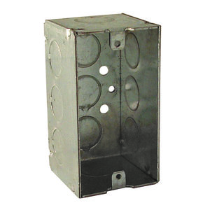 "Hubbell-Raco 670RAC Handy Box, 2-1/8"" Deep, 1/2"" KOs, Welded, Metallic"