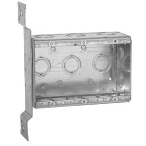 "Hubbell-Raco 686 Switch Box, Non-Gangable, 3 Gang, Steel, 2-1/2"" Deep, FM Bracket"