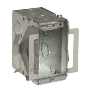 "Hubbell-Raco 689B Masonry Box, Type: Block-Loc™, 1-Gang, Welded, 3-1/2"" Depth, Steel"