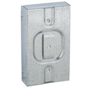 """Hubbell-Raco 701R Cable Protector Plate, 3/4"""" Raised, for 1 Device Mud Ring"""