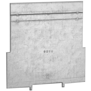 """Hubbell-Raco 708 4"""" Square Partition, Low Voltage LV 4"""" x 4"""" X 1-1/2"""", Steel"""
