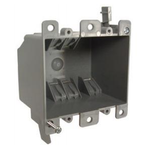 """Hubbell-Raco 7488RAC Switch/Outlet Box, 2-Gang, 2-3/4"""" Deep, Non-Metallic"""
