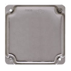 """Hubbell-Raco 804C 4"""" Square Exposed Work Cover, Blank"""