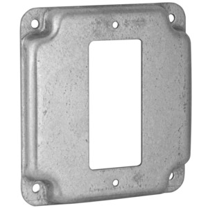 "Hubbell-Raco 808C 4"" Square Exposed Work Cover, (1) Decora/GFCI"