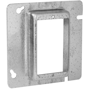 "Hubbell-Raco 839 4-11/16"" Square Cover, 1-Device, Mud Ring, 1"" Raised, Drawn"