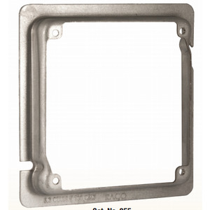 """Hubbell-Raco 855 4-11/16"""" Square Exposed Work Cover, (2) Device"""