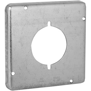 "Hubbell-Raco 878 4-11/16"" Square Exposed Work Cover, (1) 30 - 50A Single Receptacle"