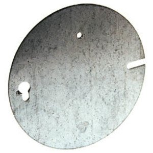 """Hubbell-Raco 892 Concrete Ring Cover, 4-1/2"""", Flat, Blank, Steel"""