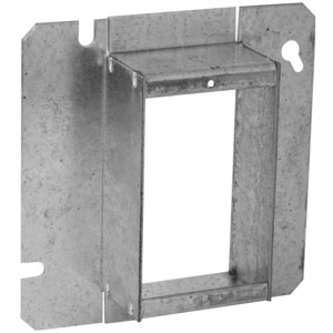"""Hubbell-Raco 898 4-11/16"""" Square Cover, 1-Device, Mud Ring, 1-1/2"""" Raised, Drawn"""