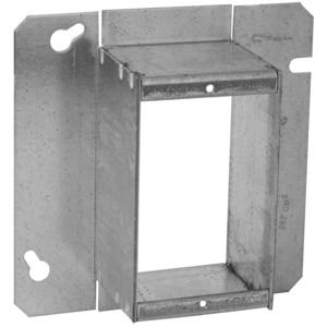 """Hubbell-Raco 899 4-11/16"""" Square Cover, 1-Device, Mud Ring, 2"""" Raised, Drawn"""