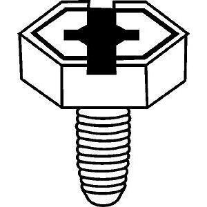 "Hubbell-Raco 998 Ground Screw, 3/8"", 4-way Combo"