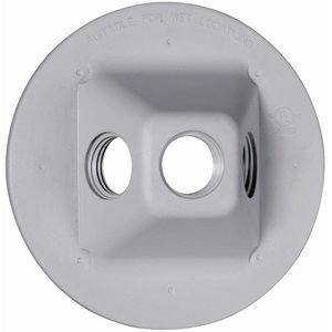 "Hubbell-TayMac PLV330GY 4"" Diameter, Round Lampholder Cover"