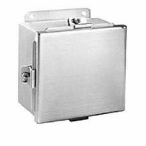 Hubbell-Wiegmann BN4040403SS Junction Box, NEMA 4X, Clamp Cover, SS