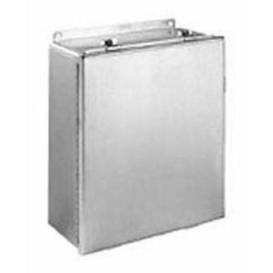 "Hubbell-Wiegmann BN4080604CHSS JIC Continuous Hinge Enclosure, 8"" x 6"" x 4"", NEMA 4X, Stainless Steel"