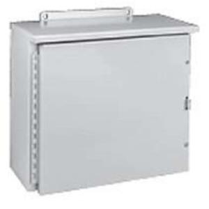 """Hubbell-Wiegmann RHC242408 Enclosure, RHC Series, NEMA 3R, Hinge Cover, 24 x 24 x 8"""""""