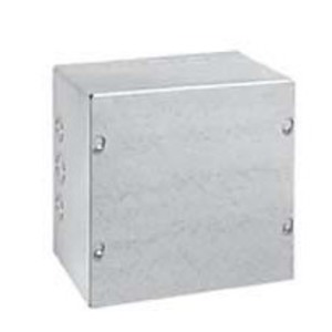 "Hubbell-Wiegmann SC060604 Pull Box, NEMA 1, Screw Cover, 6"" x 6"" x 4"", Painted, KOs"