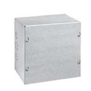"Hubbell-Wiegmann SC080804 Pull Box, NEMA 1, Screw Cover, 8"" x 8"" x 4"", Painted, KOs"