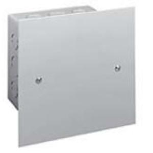 """Hubbell-Wiegmann SCF1212 Flush/Screw Cover, NEMA 1, 12"""" x 12"""", Steel/Gray Powder Coat"""