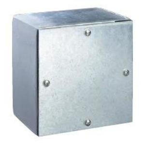 "Hubbell-Wiegmann WA060604GSC Junction Box, NEMA 3/4, Screw Cover, Gasketed, 6"" x 6"" x 4"", Steel"
