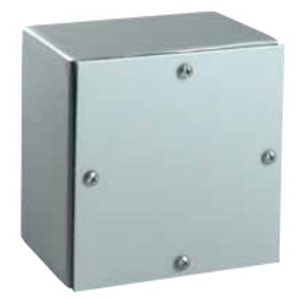 "Hubbell-Wiegmann WA080806GSC Enclosure, NEMA 3/4, Screw Cover, Gasketed, 8"" x 8"" x 6"", Steel"