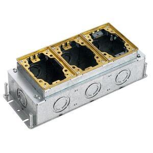 Hubbell-Wiring Kellems B2433 3-G RECT STEEL FB, DEEP,