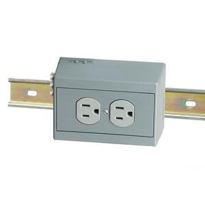 Hubbell-Wiring Kellems DRUB15HCB5 DIN-R UTL BOX,15A
