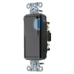 Hubbell-Wiring Kellems DS120ILBK HUB DS120ILBK SWITCH, DECO SER, SP,