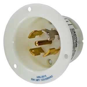 Hubbell-Wiring Kellems HBL2815 LKG FLG-INLT, 30A