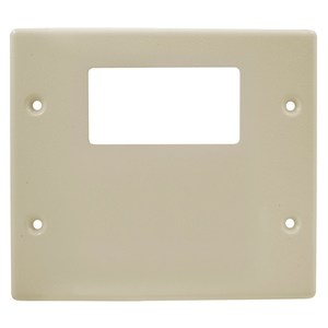 Hubbell-Wiring Kellems HBL4747RXIV 2-Gang for (1) GFCI/Decora, for HBL4750 Series Metallic Raceway, Ivory