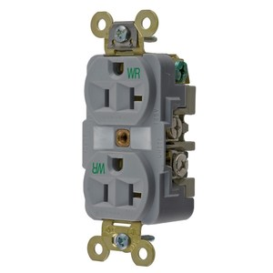 Hubbell-Wiring Kellems HBL5362GYWR HUB HBL5362GYWR WR RCPT, DUP, SB,