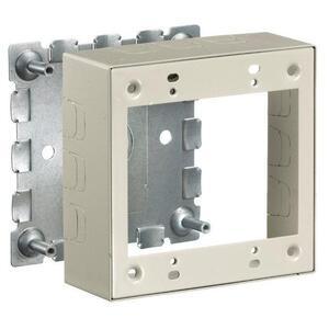 Hubbell-Wiring Kellems HBL57482IVA 2-Gang Box, HBL500/700 Metal Raceway, Steel, Ivory