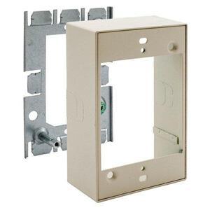 Hubbell-Wiring Kellems HBL5751IVA Extension Box, 1-Gang, 500/700 Series Metal Raceway, Steel, Ivory