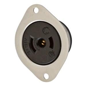 Hubbell-Wiring Kellems HBL7596 LKG FLG-RCPT, MIDGET