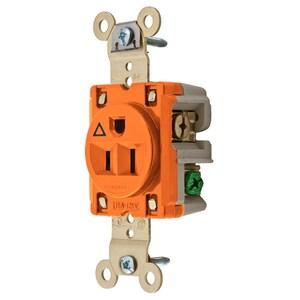 Hubbell-Wiring Kellems IG5261 SGL RCPT, IG, 15A 125V,