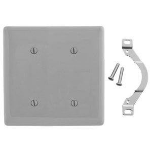 Hubbell-Wiring Kellems NP24GY WALLPLATE, 2-G, 2 STRP