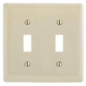 Hubbell-Wiring Kellems NP2AL WALLPLATE, 2-G, 2) TOGG,