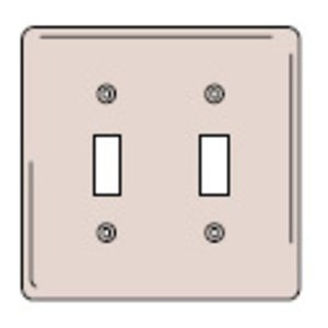 Hubbell-Wiring Kellems NP2GY WALLPLATE, 2-G, 2) TOGG,