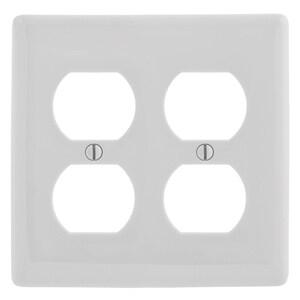 Hubbell-Wiring Kellems NP82OW WALLPLATE, 2-G, 2) DUP,