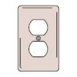 Hubbell-Wiring Kellems NPJ8 WALLPLT, M-SIZE 1G, 1)