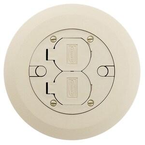 "Hubbell-Wiring Kellems PFBCIA Flush Round Cover, Diameter: 6.25"", Non-Metallic"