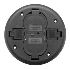 Hubbell-Wiring Kellems PT2X2CBL FRPT, 2X2, REP CVR, BK