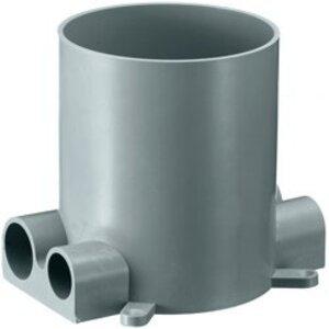 "Hubbell-Wiring Kellems RF400 Round Floor Box, Diameter: 4-7/8"", Depth: 6"", Non-Metallic"
