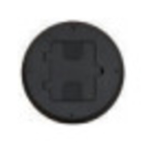 Hubbell-Wiring Kellems RF406BK Floor Box Assembly, Includes Duplex Receptacle, Non-Metallic, Black