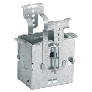 "Hubbell-Wiring Kellems RF500 Flush Floor Box, Adjustable, Depth: 3"", (3) 1/2"" Knockouts, Steel"