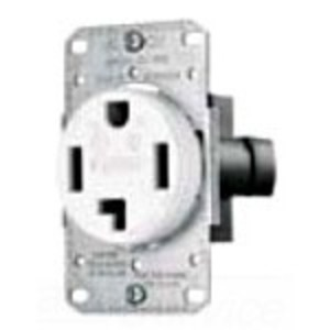 Hubbell-Wiring Kellems RR430FW Power Receptacle, 30A, 125/250V, 3P4W, White