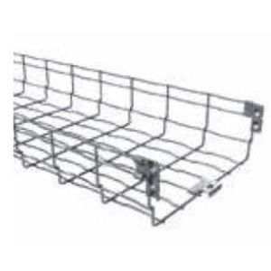 "Husky BF2R-02X2-EZ Wire Basket Cable Tray, 2"" Deep, 2"" Wide, 10' Long, Steel"