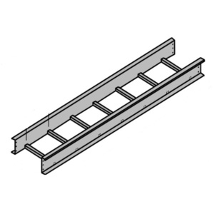 "Husky CA2S-12-144 Solid Cover for Ladder Cable Tray, Aluminum, 12"" Wide, 12' Long"