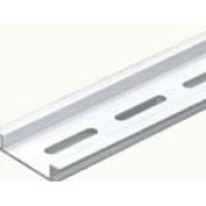 IBOCO OMEGA3FAL1 Din Rail, Perforated, Aluminum, Order of 1 = (1) 1 Meter Rail