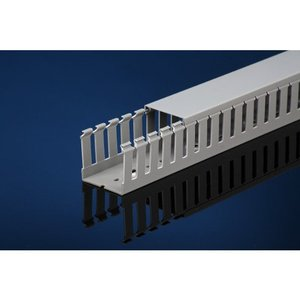 "IBOCO T1-1030G Wide Finger Wire Duct, 1"" X 3"", Light Gray"