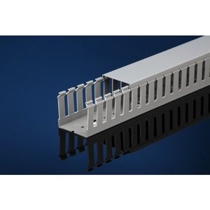 "IBOCO T1-1040GA Wide Finger Wire Duct, 1"" X 4"", Light Gray, Adhesive Backing"